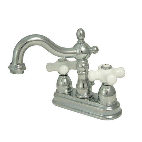 restorers 4 inch centerset lavatory faucet porcelain