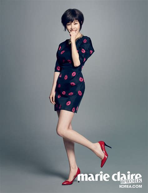short haired han ji min  cute sexy  marie claire