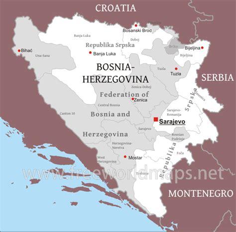 where is bosnia on a world map bosnia political map