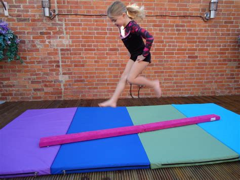 2 4mtr 8ft folding balance beam faux suede range new aqua