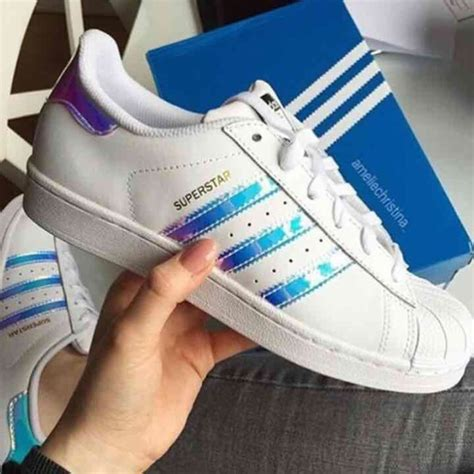 11% off Adidas Shoes   Sz7 Superstar Adidas Hologram White