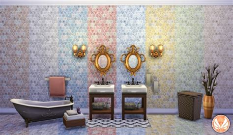 Eclectic Tile Designs | eclectic hexagon tile walls and flooring at simsational