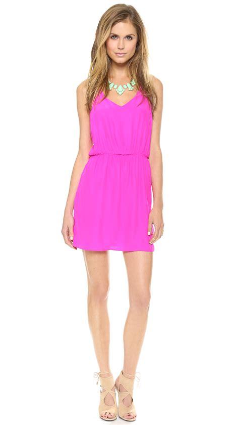 dress amanda amanda uprichard multi dress in pink pink lyst