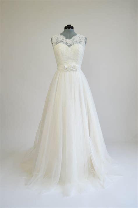 Hoodie Needa Original By Ivory sleeveless sheer lace a line tulle wedding dress