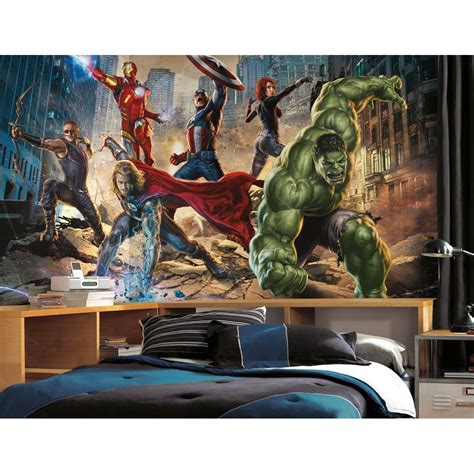 marvel wall mural comic book bedroom wallpaper home decorating ideas