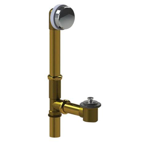 bathtub assembly watco 591 series 16 in tubular brass bath waste with lift