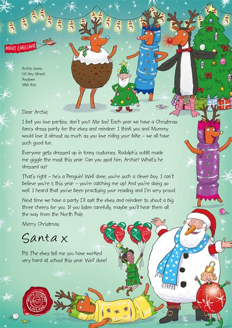 nspcc charity letter nspcc letters from santa of one
