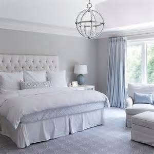 Gray Blue Curtains Designs Light Gray Bedroom With Ivory Curtains Transitional Bedroom