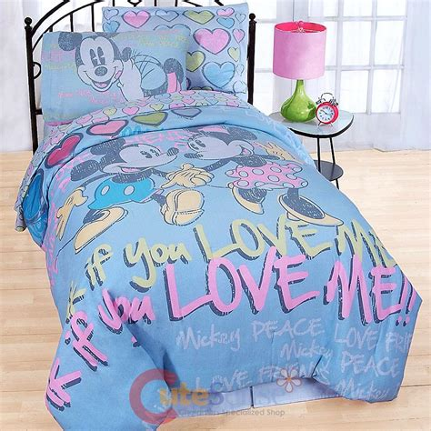 mickey mouse pillow and blanket set disney mickey minnie mouse 7pc size bedding comforter