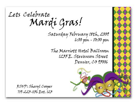 free mardi gras invitation templates mardi gras invitation celebrate mardi gras with this