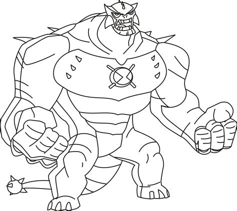 free printable ben 10 coloring pages for kids