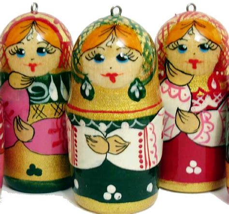 christmas ornaments matryoshka russian christmas