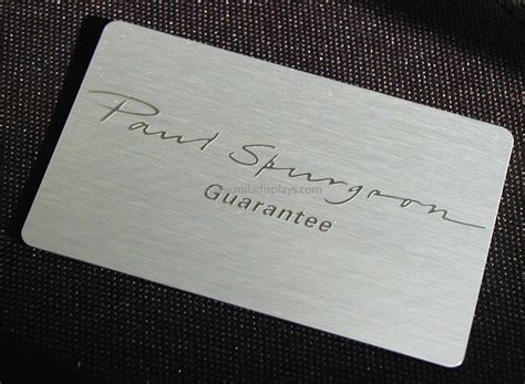 Guarantee Card Template by Etched Plastic Business Cards Choice Image Card Design