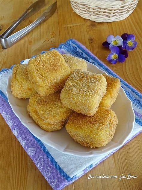 Mozzarella In Carrozza Fritta Mozzarella In Carrozza Fritta Croccante In Cucina Con