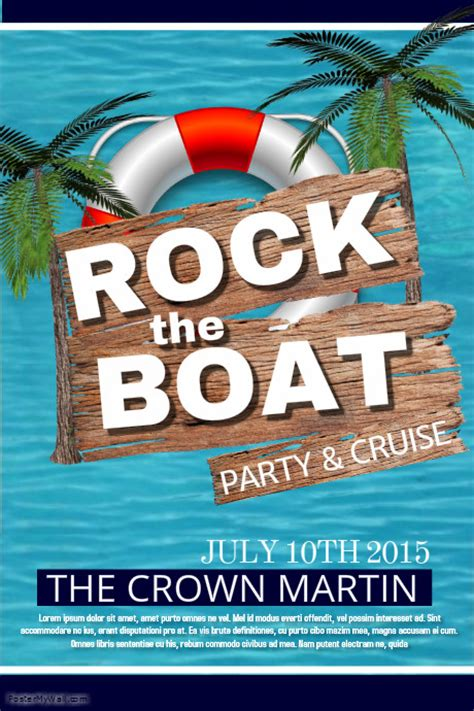 Boat Party Template Postermywall Free Boat Flyer Template