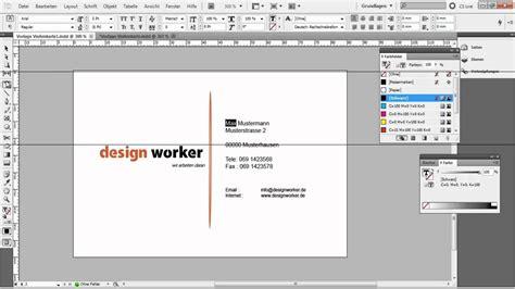 visitenkarte in indesign erstellen tutorial vorlage teil