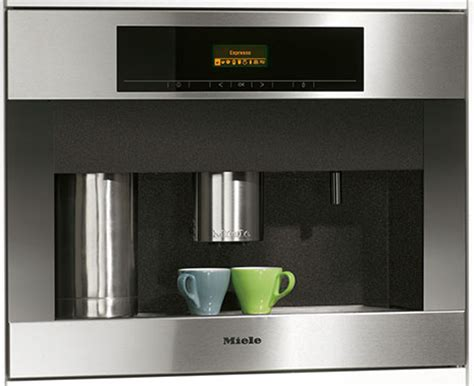 Miele Plumbed Coffee Maker by Passive House Kitchen Appliances Form Follows Function