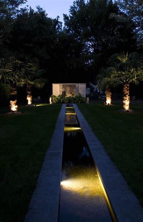city garden  water rill
