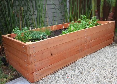 How To Build Large Planter Boxes by How To Build A Raised Planter Bed For 50 For Your