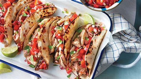 slow cooker pork tacos  fresh tomato salsa recipe