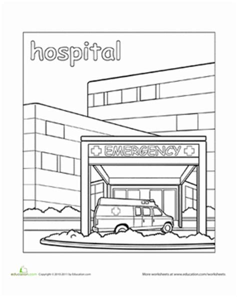 cute doctor coloring page hospital worksheet education com