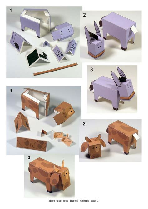 How To Make Toys Out Of Paper - nativity story pop up out paper characters to create a