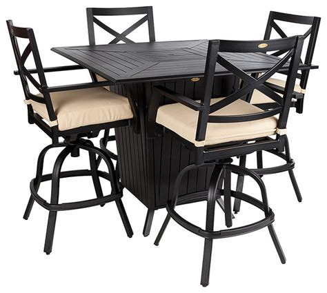 gas pit table and chairs high mission gas pit chair set modern outdoor