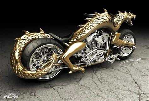 dragon motocross 3d printed golden dragon themed chopper sets the tarmac on