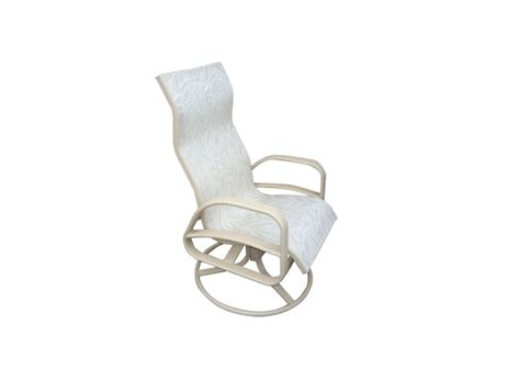 E 351 High Back Swivel Rocker Patio Chair