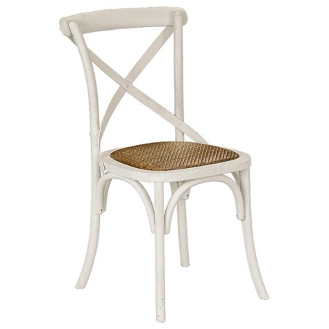 provincial cross back chair crisp white chairs dining
