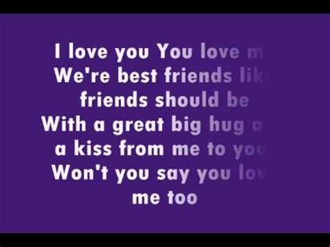 i you lyrics barney i you lyrics