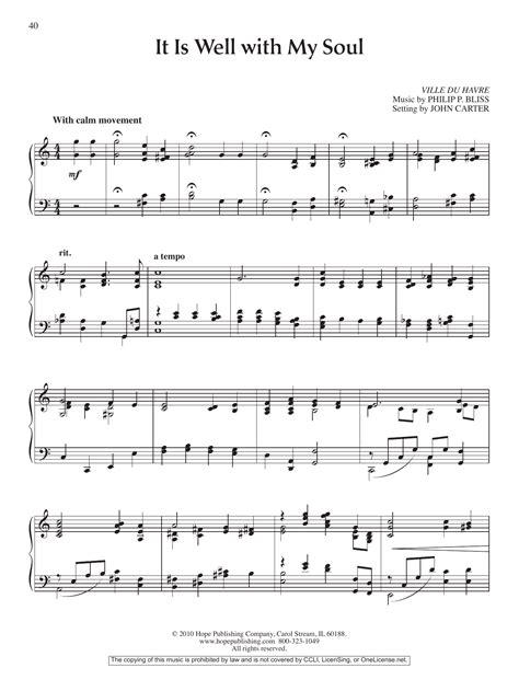 printable lyrics it is well with my soul it is well with my soul sheet music direct