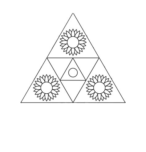tattoo mandala triangle triangle mandala tattoo drawing tattoos pinterest