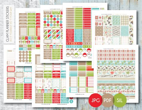 free printable holiday planner stickers christmas planner printables planner stickers free