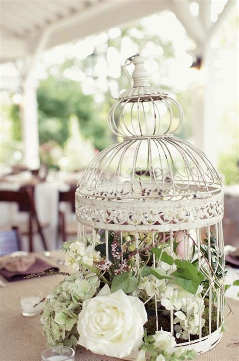 flower birdcage centerpiece