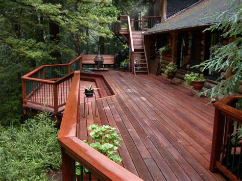 Exterior Paint Colors Home Depot - redwood deck in the trees buy redwood
