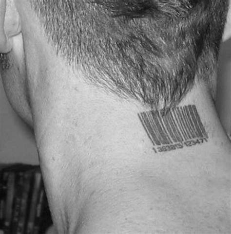 barcode tattoo meaning neck barcode meaning for