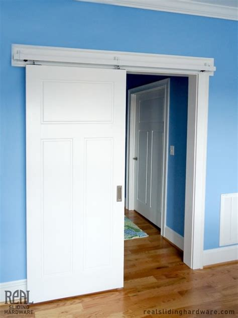 White Interior Barn Doors by Barn Door Hardware Traditional Bedroom Other By Real Carriage Door Sliding Hardware