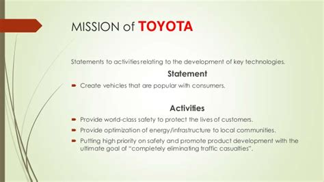 toyota of mission toyota mission and vision