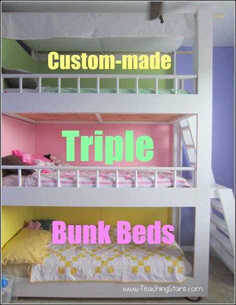 diy triple bunk beds custom made triple bunk beds