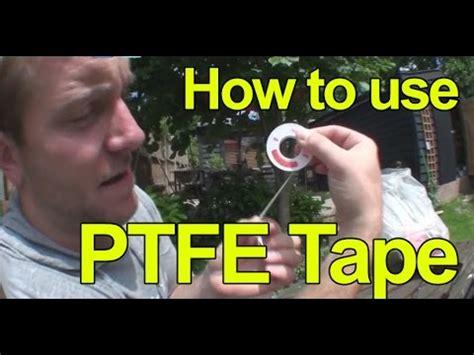 How To Use Ptfe Plumbing ptfe videolike