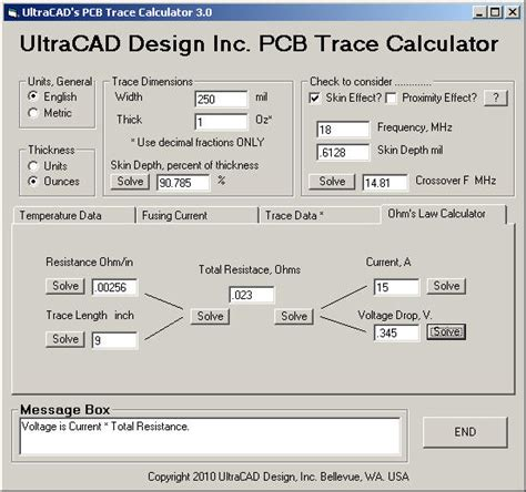 Section 182 Ipc by Ultracad Design Pcb3 Trace Current Temperature Calculator