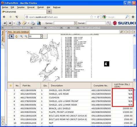 Epart Suzuki Sedang Belajar Dan Terus Belajar Katalog Plus Harga Spare