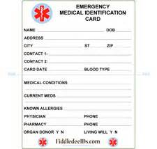 wallet id card template printable cards my s allergies