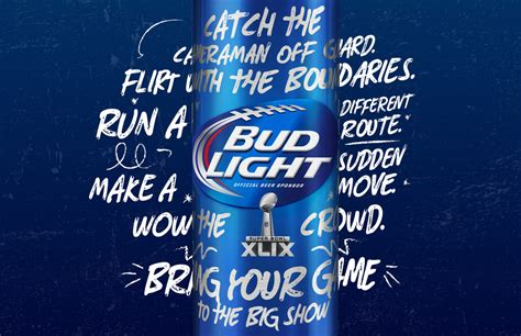 Bud Light For Whatever by Budlight Superbowl Xlix The Dieline Packaging