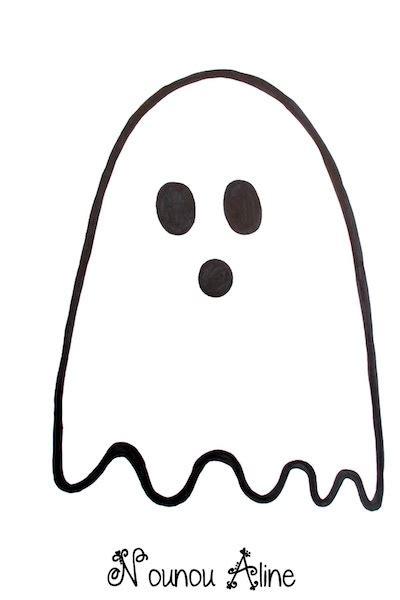 Dessin De Dessin De Fantome D Halloweenl