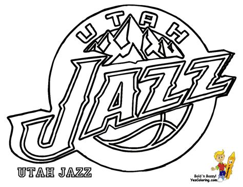 jazz basketball coloring pages utah jazz logo coloring page coloring home