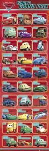 Lighting Mcqueen Car Names Cars 2 Poster 30 Characters Door 21x62 Pixar