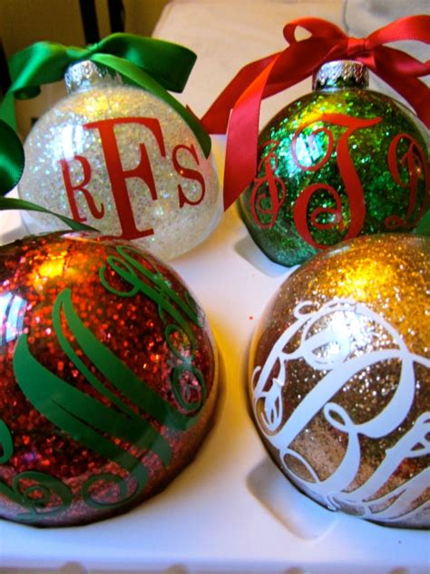 initial ornaments monograms week day 4 monogrammed glitter ornaments the fitzgeralds
