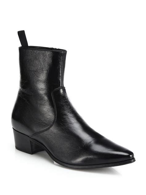 laurent mens chelsea boots laurent 45 leather chelsea boots in black for